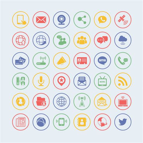 professional design visual communication 36 free vector communication icons icon icon icons and