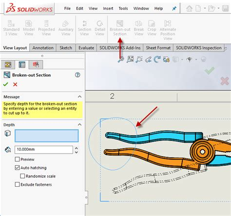 broken out section solidworks solidworks 2018 what s new broken out section views