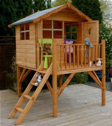 Platform Playhouse 213 With Balustrades And Ladder