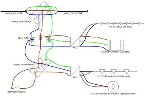 bathroom downlights wiring diagram efcaviation