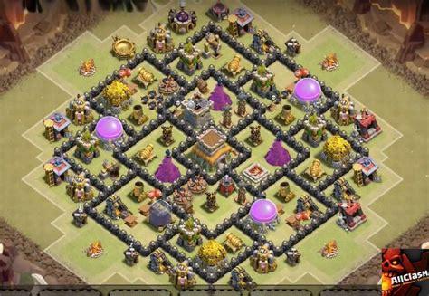 top base war th 9 coc 2015 anti dragon town hall 8 war base layout 2015 air sweeper