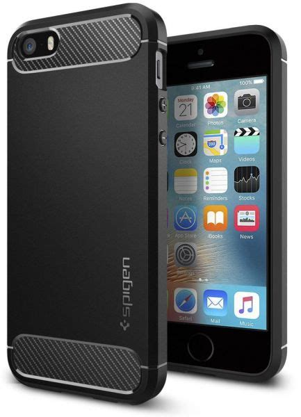 Spigen Sgp Rugged Armor Series Iphone 55s5se Original Black spigen iphone se 5s 5 rugged armor cover