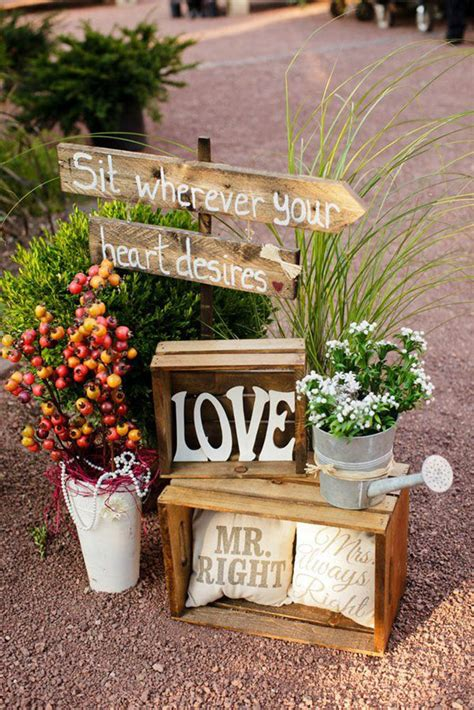 Rustic Wedding Decor by 65 Rustic Outdoor Wedding Decorations Ideas On A Budget