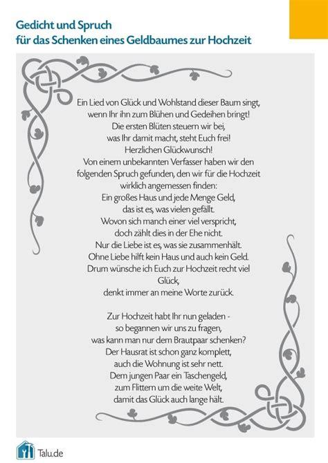 Hochzeit Gedicht by Geldbaum Zur Hochzeit Bastelanleitung Gedicht Talu De