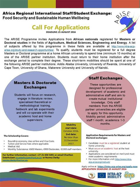 Brunel Mba Requirements by Africa Regional International Staff Student Exchange