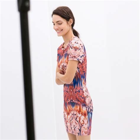 Dress Bodycon Zara zara zara printed bodycon dress from netta s