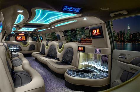 Limousine Interior Design by Houston Limo Limousine Rental Service Offering Town Cars