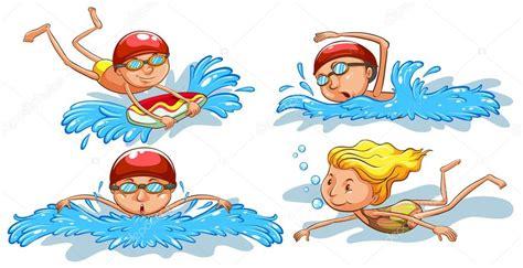 imagenes vectoriales personas coloreados dibujos de personas nadando archivo im 225 genes