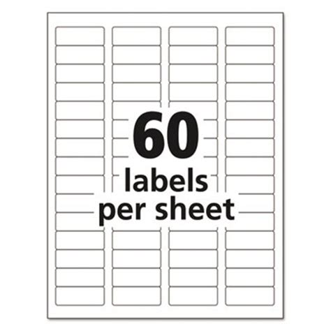 Return Address Label Template 60 Per Sheet by Avery Dennison 5155 Easy Peel Return Address Label