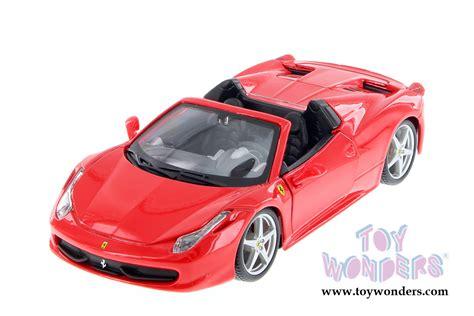 toy ferrari 458 ferrari 458 spider hard top by bburago ferrari race play