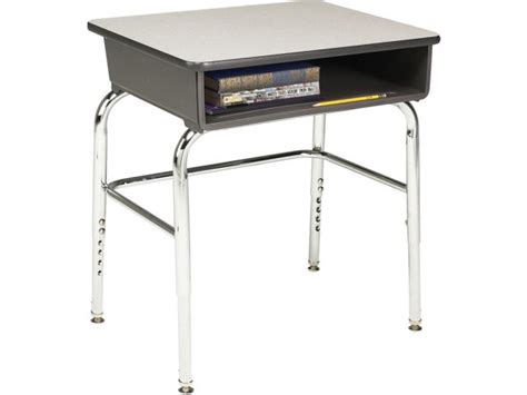 Adjustable Height Open Front School Desk Laminate U Adjustable Student Desk