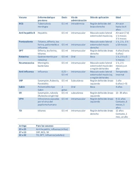 cuadro de vacunas cuadro b 225 sico de vacunaci 243 n