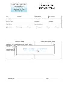 Submittal Sheet Template by Contractors Help Desk Forms