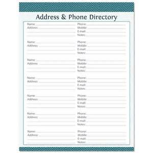 phone book template address phone directory fillable printable pdf by