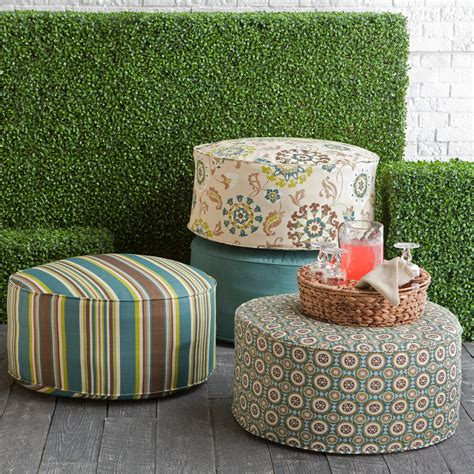 outdoor poufs and ottomans coral coast ulani 25 6 in outdoor pouf at hayneedle