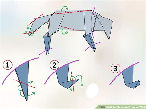 How To Make An Origami Wolf Step By Step - how to make an origami wolf with pictures wikihow