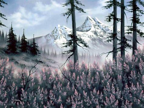 bob ross painting backgrounds bob ross mountain blossoms jester bob ross