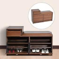 wooden shoe cabinet storage closet rack cupboard bench