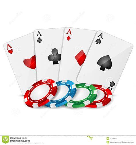 Carte Da Gioco E Chip Di Poker Illustrazione Vettoriale   Immagine: 31117864