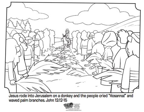 Palm Sunday Bible Coloring Pages What S In The Bible Palm Sunday Coloring Page