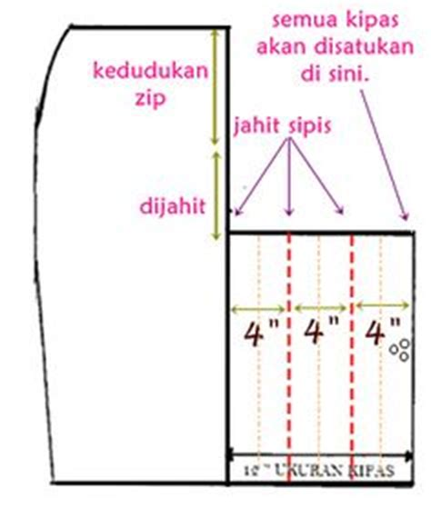 Blouse Corak Kembang pola berlukis kain kembang payung sewing skirt and dress tutorial