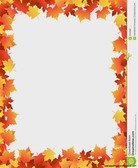 Autumn Leaves Border Clipart Wallpapers Gallery Leaf Border Template