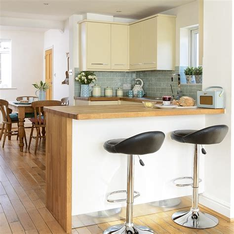 breakfast bar work top family kitchen with breakfast bar and wooden worktops
