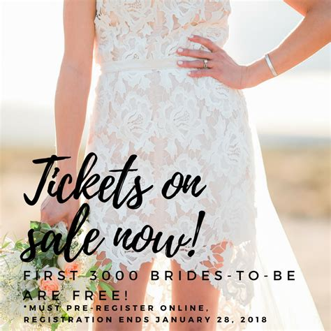 To Be Win Tickets To The National Wedding Show by Tickets National Bridal Show