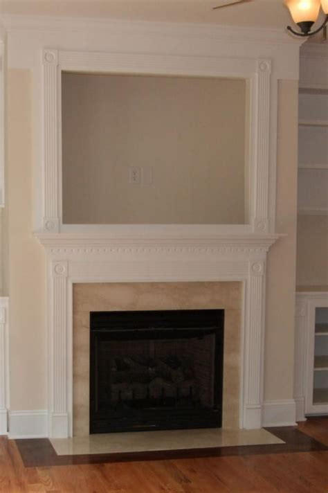 Tv Above Fireplace Mantel by La Build Fireplace Mantel Surround Brick