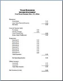 basic financial statement template basic income statement exle and format profit and