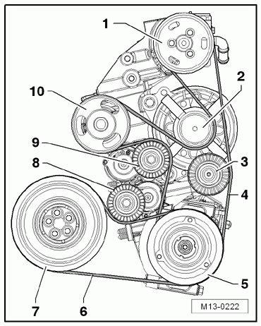 volkswagen beetle  serpentine belt diagram serpentinebelthqcom