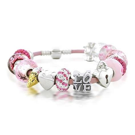 valentines bracelets valentines sweetheart bead bracelet sterling silver fits