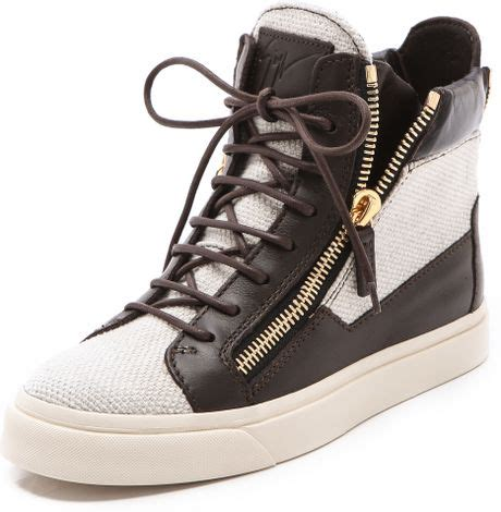zipper sneakers giuseppe zanotti zipper sneakers in black lyst