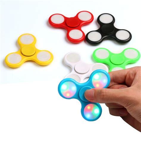 Fidget Spinner Finger Spinner led light fidget finger spinner dc production