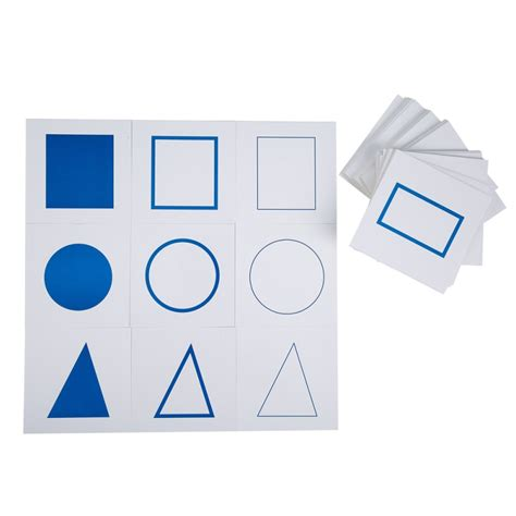 montessori card set template geometric form cabinet with cards e o montessori