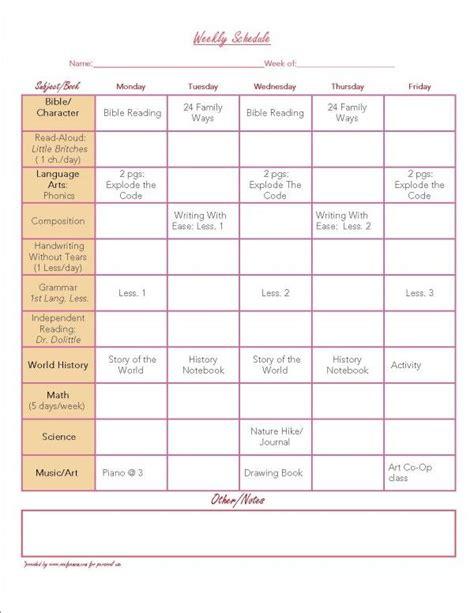 printable calendar homeschool free organization printables weekly planner planners