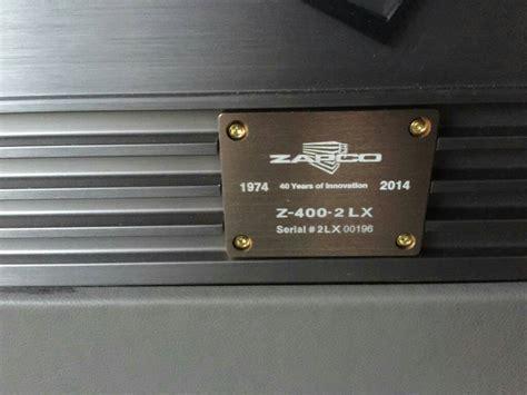 Zapco Z 400 2 Lx fs zapco z 400 2 lx car audio diymobileaudio