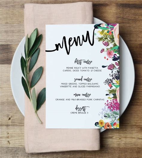23 event menu templates 23 event menu templates