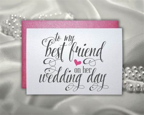 Wedding gift card for best friend wedding bridal shower