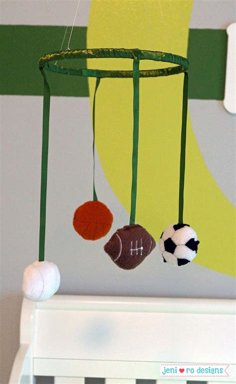 Sports Crib Mobile by Sports Nursery Fit For A Duck Jeni Ro Rooms