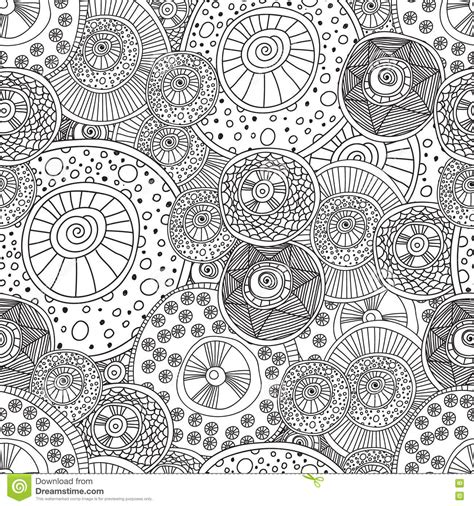 abstract circle coloring page coloring pages for adults book seamless black and white