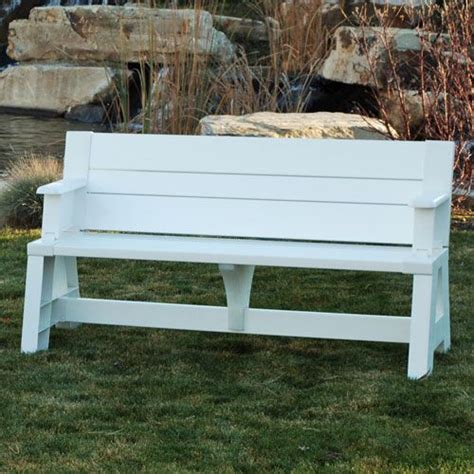 convert a bench folding picnic table convert a bench 99 00 for the home pinterest