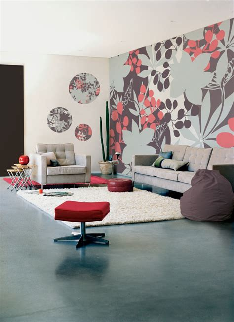 60s wohnzimmer wandgestaltung wohnzimmer mutige und moderne wahl