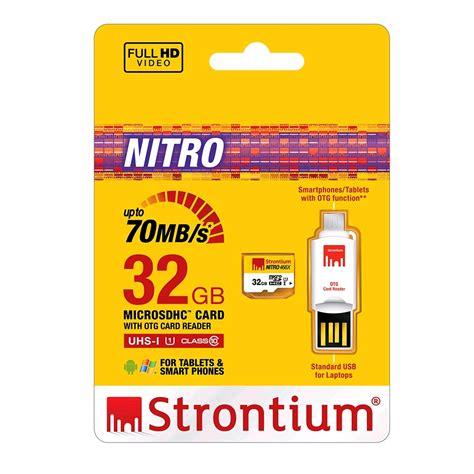 Strontium Nitro 433x Microsdhc Uhs 1 65mb S Class 10 16gb 1 strontium nitro 466x microsdhc card otg card reader