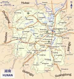 Hunan China Map by Hunan China