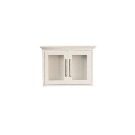 Kitchen Upper Cabinet White   Dollhouse Kitchen Cabinets