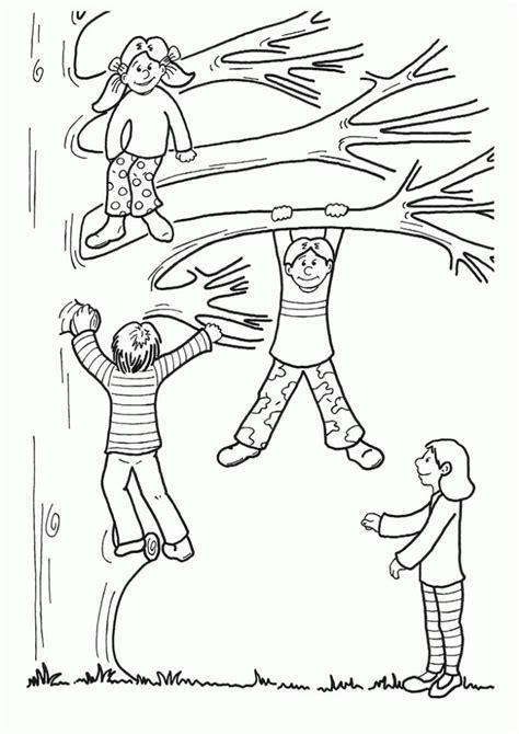 imagenes para colorear niños jugando jugando en los arboles dibujalia dibujos para colorear