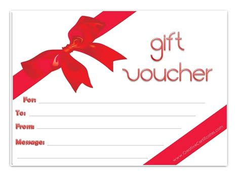 voucher templates free printable gift voucher template