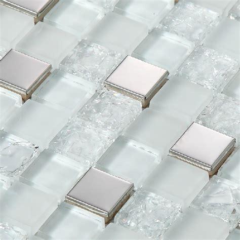 2014 new silver crackle white glass tile backsplash