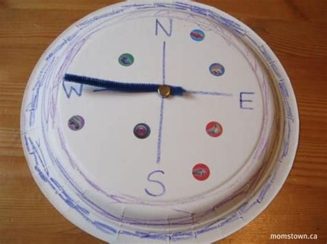 How To Make A Paper Compass - compass craft paper plate pirate crafts
